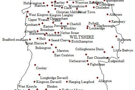 1. Wiltshire map