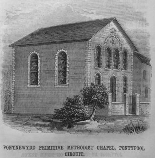 Engraving published in the Christian Messenger 1867