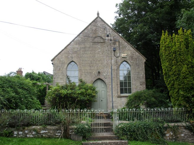 Downhead Primitive Methodist chapel in use as a short term let.   Christopher Hill August 2021