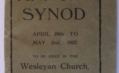 01. Tunstall Annual Synod April-May 1932 held at Wesleyan Church, Sandbach - Souvenir Handbook