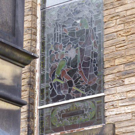 05 Sheffield, Walkley, South Street, Ebenezer PM Chapel, decorative window, 14.2.2020
