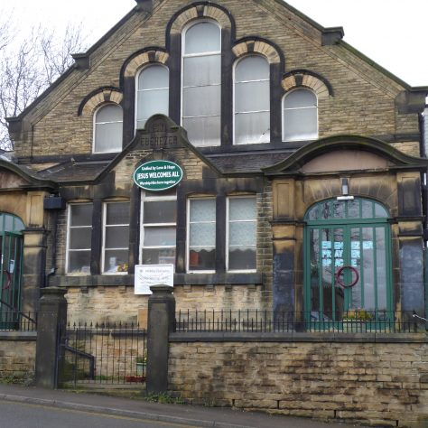 09 Sheffield, Walkley, South Street, Ebenezer PM Chapel, facade of 1904 building, 14.2.2020