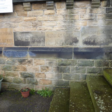 13 Sheffield, Walkley, South Street, Ebenezer PM Chapel, foundation stones of 1904 building (iv), 14.2.2020