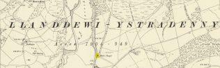 Site of Llandewi Ystradenny Primitive Methodist Chapel Powys
