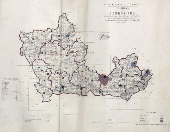 Location of Primitive Methodist chapels in Berkshire |