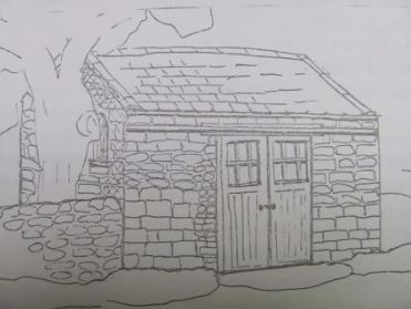 sketch of the former Brotherlee Primitive Mthodist chapel | by kind permission of Dr. Christine Seal