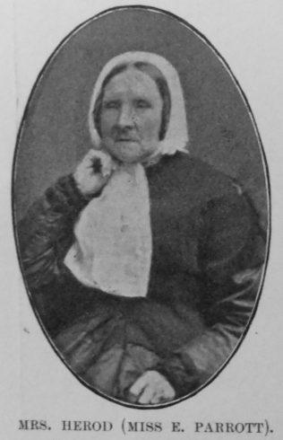Herod, Elizabeth (nee Parrott) (1796-1871)   Kendall