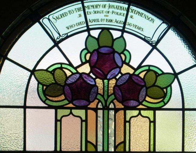 Crook Dawson Street PM chapel memorial window to  Jonathan Stephenson | Christopher Humble 2020