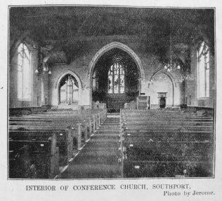 Southport Church Street chapel Interior | Primitive Methodist Magazine 1909/518
