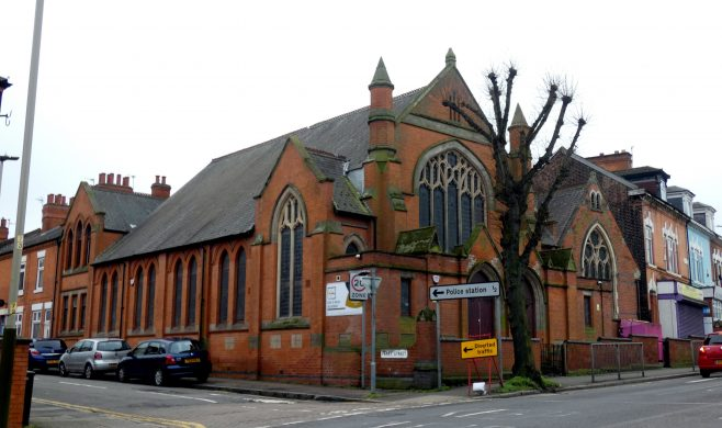 corner view of former Humberstone Road Primitive Methodist chapel and Sunday School, Leicester | Charles de Podesta February 2021
