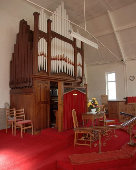 Interior. Organ 1907 by Nelson & Co. Durham