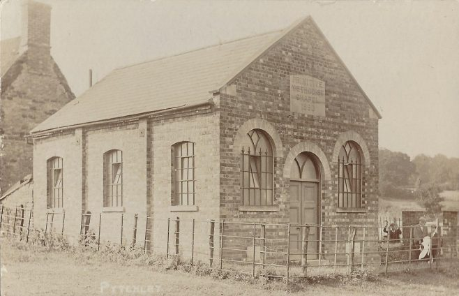 Pytchley Primitive Methodist chapel: picture from an undated post card.