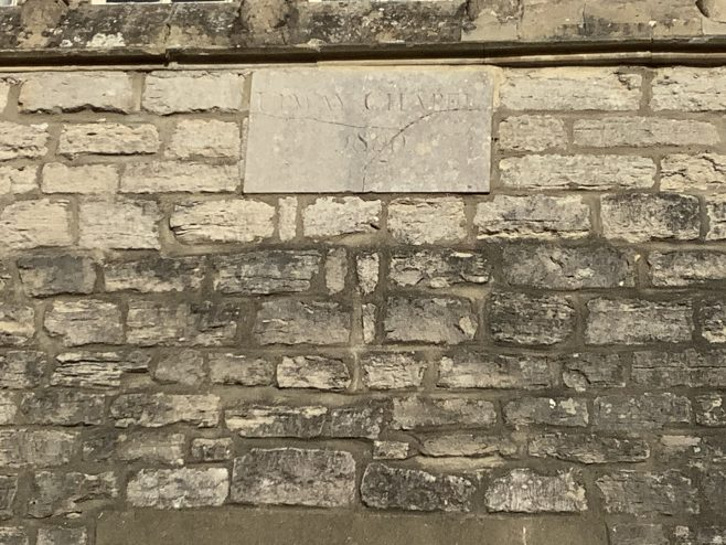 date stone from the former Upwey Primitive Methodist chapel   Martin Reeves 2021