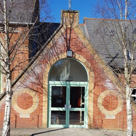 Swindon: Stratton Methodist Church side entrance | Graham Crawshaw 2020