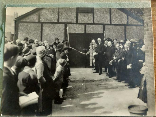 The opening of the new hall at Highbury Vale Primitive Methodist chapel in Elwood Street, Highbury | postcard provided by Jill Clarke