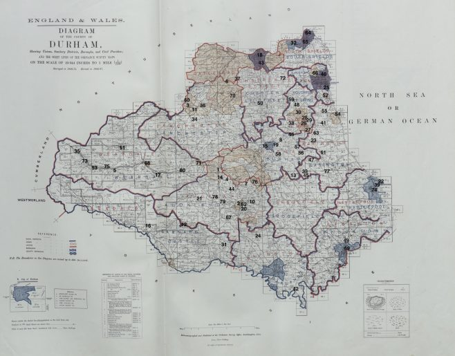Location of Primitive Methodist chapels in County Durham, 1867 | This work incorporates historical material provided by the Great Britain Historical GIS Project and the University of Portsmouth through their web site A Vision of Britain through Time (https://www.VisionofBritain.org.uk).