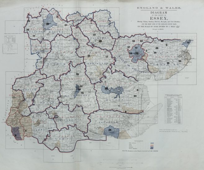 Location of primitive Methodist chapels in Essex 1867 | This work incorporates historical material provided by the Great Britain Historical GIS Project and the University of Portsmouth through their web site A Vision of Britain through Time (https://www.VisionofBritain.org.uk).
