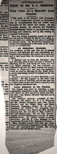 Edward Thompson Obituary