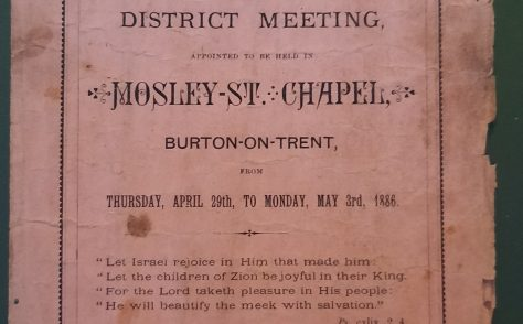 Nottingham District Meeting 29 April to 3 May 1886