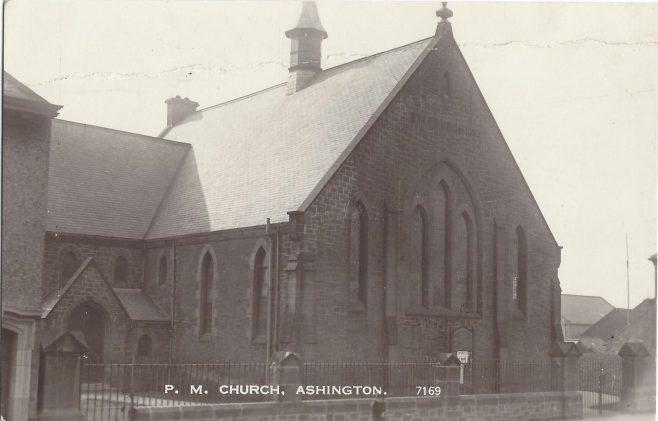 Ashington Primitive Methodist chapel | postcard provided by Randle Knight
