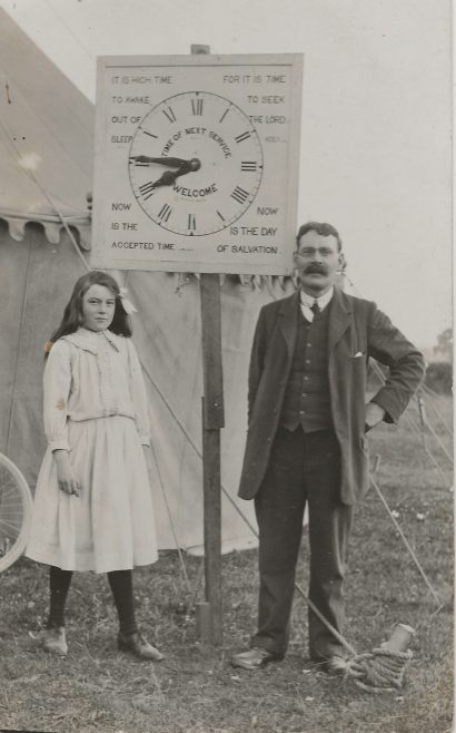 Mr Macphie and his daughter Eva taken c:1912  at Lower Stratton  | Hill family collection