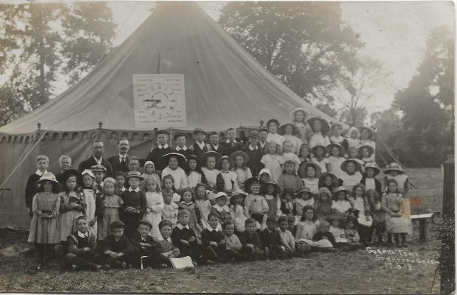 Mr Macphie's Gospel Mission   Tent June 1913 Stratton Green (Stratton St Margaret) | Hill family collection