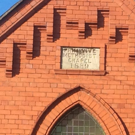 Willaston (Wirral) PM chapel  1889: date stone | Christopher Wells September 2020