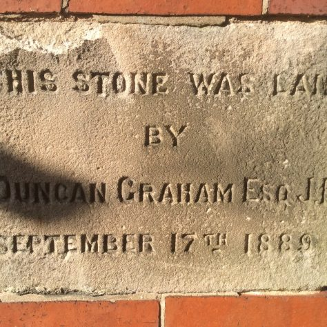 Willaston (Wirral) PM chapel  1889: memorial stone | Christopher Wells September 2020