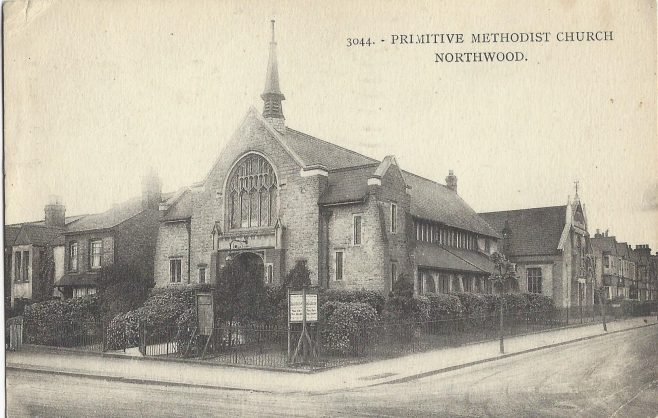 Northwood Primitive Methodist chapel: from a postcard mailed in 1938 | provided by Randle Knight