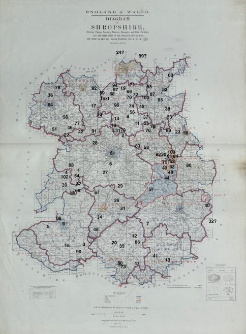 Location of Primitive Methodist chapels in Shropshire 1867   This work incorporates historical material provided by the Great Britain Historical GIS Project and the University of Portsmouth through their web site A Vision of Britain through Time (https://www.VisionofBritain.org.uk).