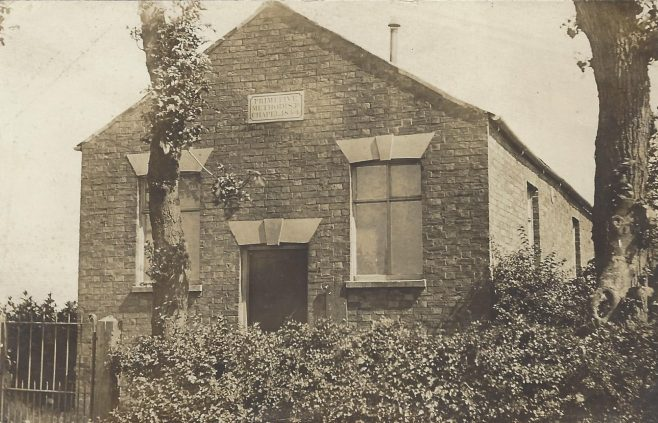 Unknown 1854 Primitive Methodist chapel from an undated postcard | provided by Randle Knight