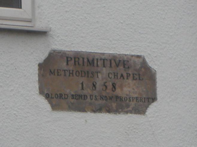 Hinderwell Primitive Methodist date stone | Christopher Humble 2020