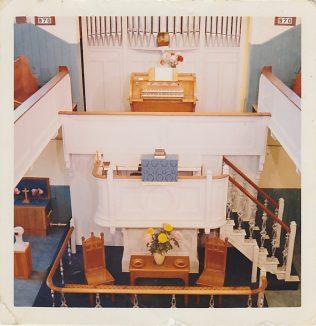 Interior of 1875 Chapel mid 20th century
