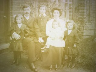 L to R Blanche, James Corner Sutcliffe, Tom Sutcliffe, Elizabeth Sutcliffe (Nee Young), Archie and Betty outside 6 Clarence Road, Sudbury Suffolk. | Supplied by Andrew Sutcliffe