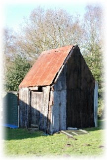 The final remains of the  Irby Primitive Methodist Tin Chapel – the Vestry – before it collapsed in 2013 | Irby Methodist church website, with permission.  Provided by Christopher Wells