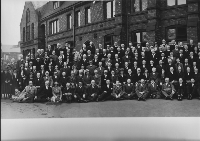 Part of group at the final Primitive Methodist Conference 1932