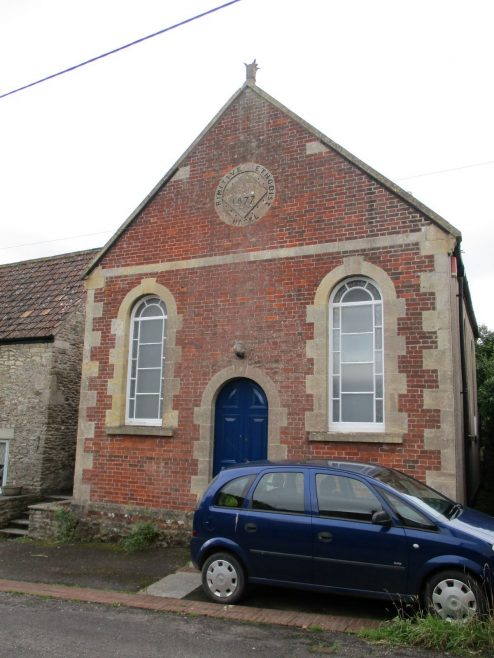Wanstrow Primitive Methodist chapel; front elevation | Christopher Hill August 2021