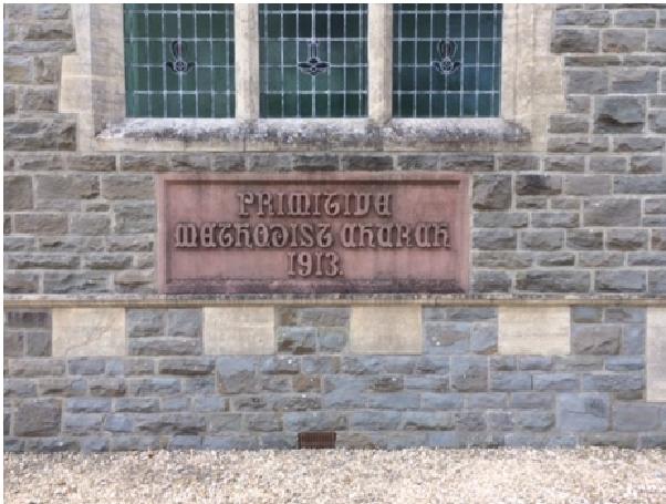 datestone at Writhlington Primitive Methodist chapel | Jeff Parsons 2021
