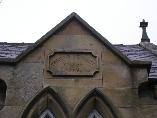 01 Allendale Town, PM Chapel, date stone   G W Oxley