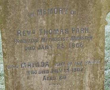 Thomas Parr and Family: From 19th Century Primitive Methodism to the present