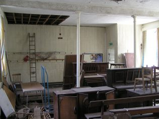 Ground floor interior of the schoolroom (the original 1824 chapel building) (August 2013)   David Noble