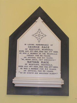 Memorial tablet to George and Nathan Race (August 2013) | David Noble