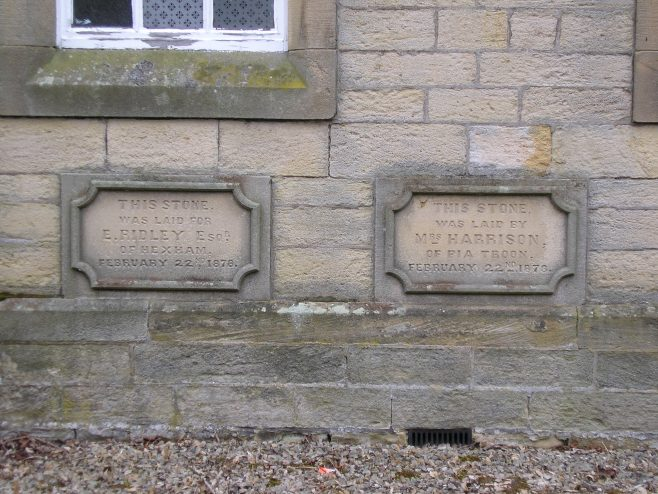03 Allendale Town, PM Chapel, foundation stones (i)   G W Oxley
