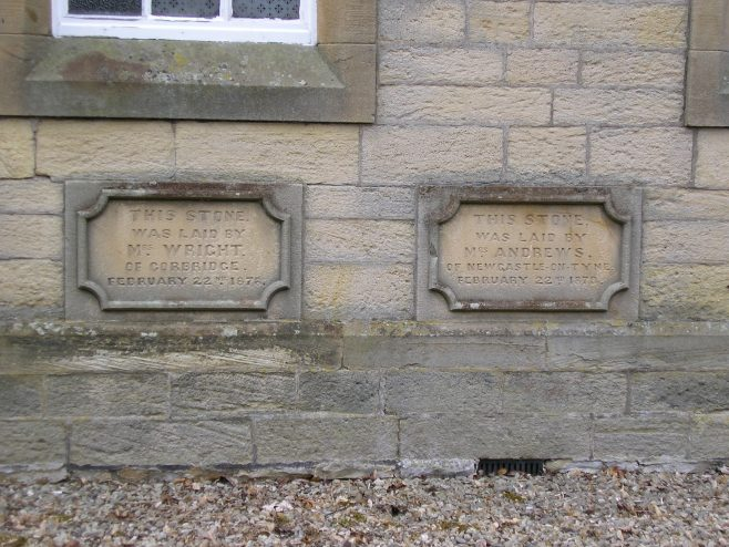 04 Allendale Town, PM Chapel, foundation stones (ii)   G W Oxley