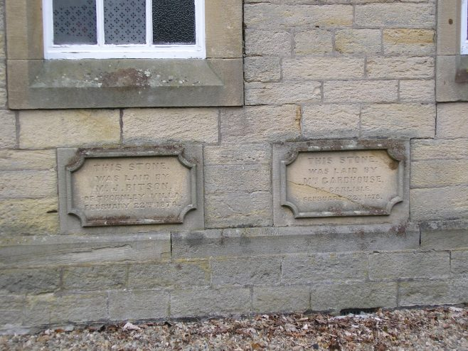 05 Allendale Town, PM Chapel, foundation stones (iii)   G W Oxley