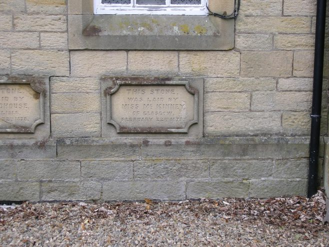 06 Allendale Town, PM Chapel, foundation stones (iv)   G W Oxley