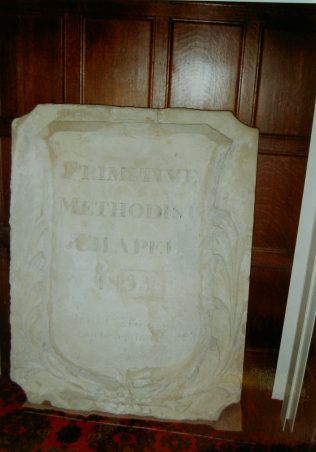 date tablet from the first Barton on Humber Primitive Methodist chapel   Keith Guyler 1996