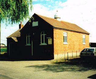 1861 Fosdyke Primitive Methodist chapel | Keith Guyler 1991