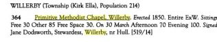 1851 Religious census of Yorkshire: Willerby