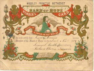 Band of Hope membership certificate for Jessie Grant Browne, 1867 | Joanne Davy